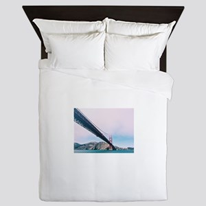 Golden Gate Bridge In The Mist Queen Duvet