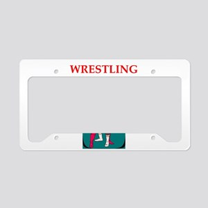 wrestling License Plate Holder
