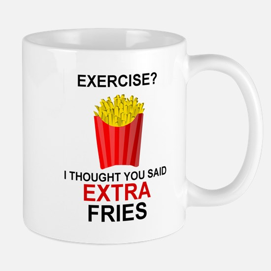 EXERCISE - EXERCISE? I THOUGHT YOU SAID EXGT Mugs