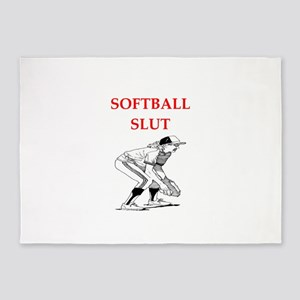softball 5'x7'Area Rug