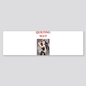 quilting Bumper Sticker