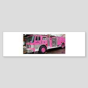 Pink Fire Truck (real) Bumper Sticker