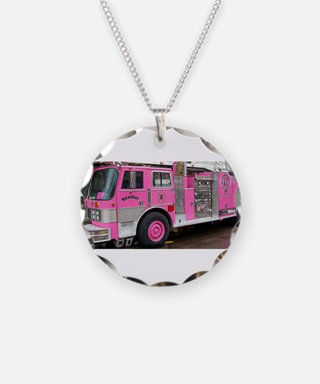 Pink Fire Truck (real) Necklace
