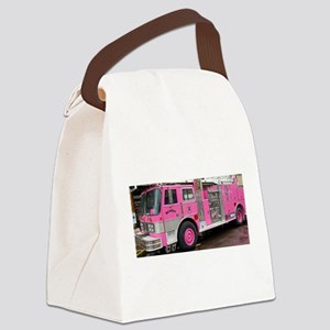 Pink Fire Truck (real) Canvas Lunch Bag