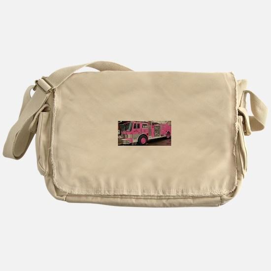 Pink Fire Truck (real) Messenger Bag