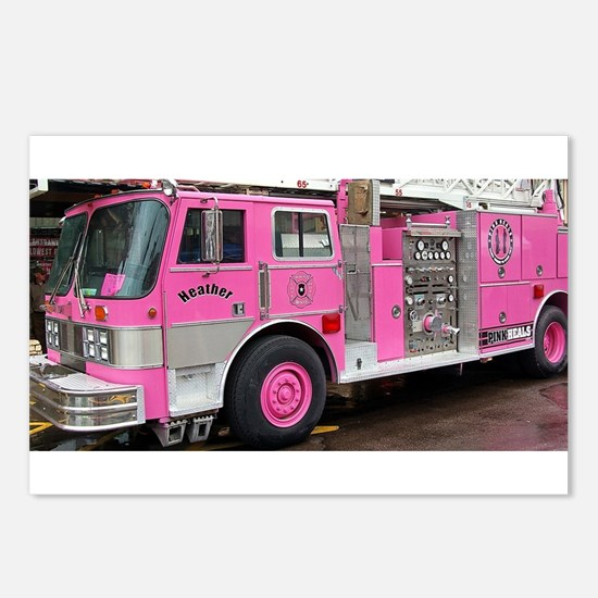 Pink Fire Truck (real) Postcards (Package of 8)