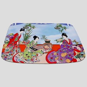 3 Geisha Musicians, Kimonos ! Bathmat