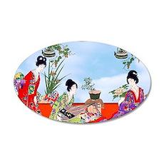 3 Geisha Musicians, Kimonos Wall Decal