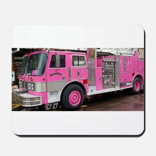 Pink Fire Truck (real) Mousepad
