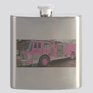 Pink Fire Truck (real) Flask