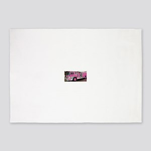 Pink Fire Truck (real) 5'x7'Area Rug