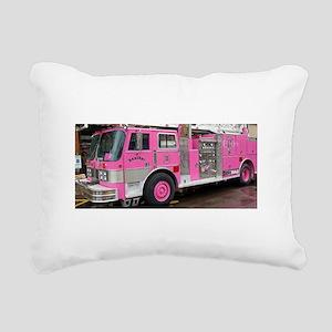 Pink Fire Truck (real) Rectangular Canvas Pillow