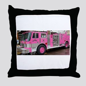 Pink Fire Truck (real) Throw Pillow