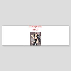 mahjong Bumper Sticker