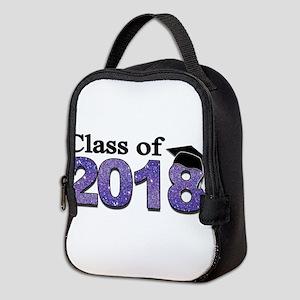 Class of 2018 Glitter Neoprene Lunch Bag
