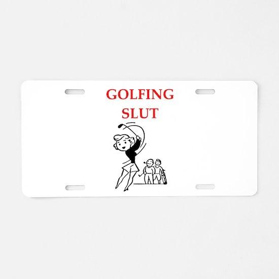 golfing Aluminum License Plate