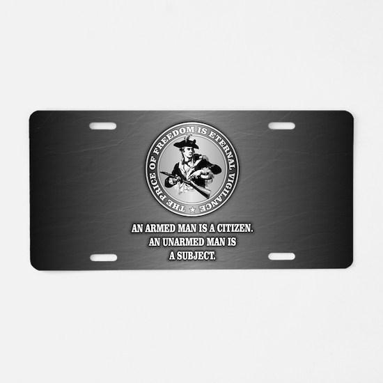 PAT Armed Citizen Aluminum License Plate