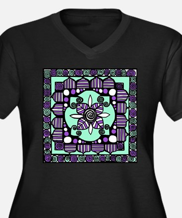 Framed Flower 17 Plus Size T-Shirt