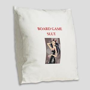 board games Burlap Throw Pillow