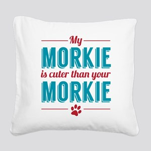 Cuter Morkie Square Canvas Pillow
