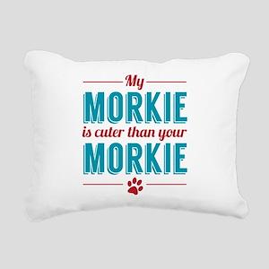 Cuter Morkie Rectangular Canvas Pillow
