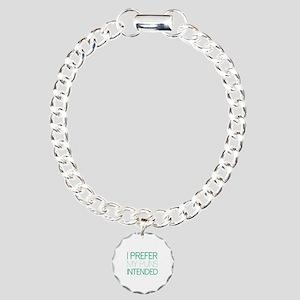 I Prefer My Puns Intended Charm Bracelet, One Char