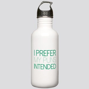 I Prefer My Puns Intended Stainless Water Bottle 1