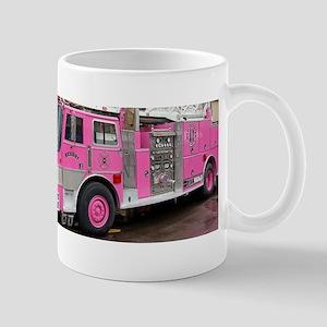 Pink Fire Truck (real) Mugs