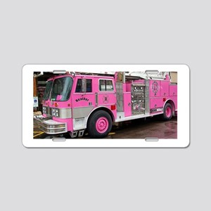 Pink Fire Truck (real) Aluminum License Plate