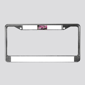 Pink Fire Truck (real) License Plate Frame
