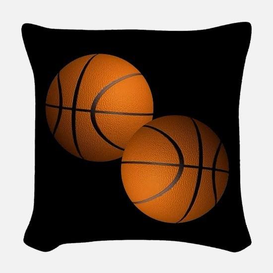 Basketball Woven Throw Pillow