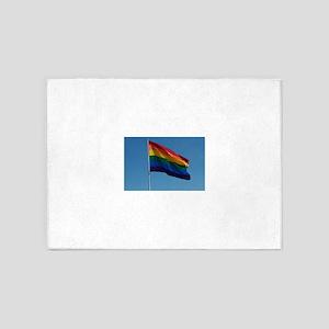 Rainbow Pride Flag 5'x7'Area Rug