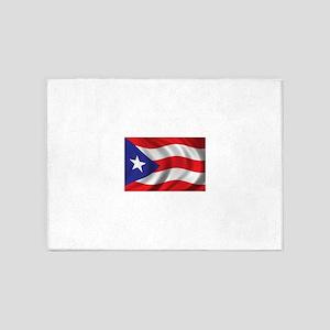 Puerto Rico Flag (bright) 5'x7'Area Rug