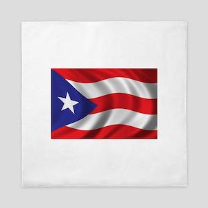 Puerto Rico Flag (bright) Queen Duvet