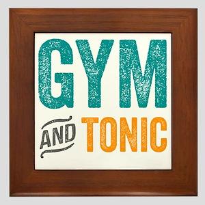 Gym and Tonic Framed Tile
