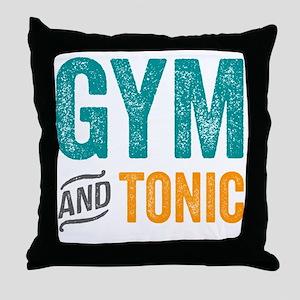 Gym and Tonic Throw Pillow