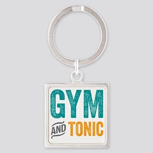 Gym and Tonic Square Keychain