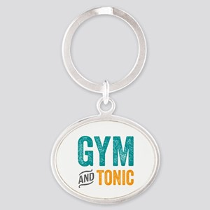 Gym and Tonic Oval Keychain
