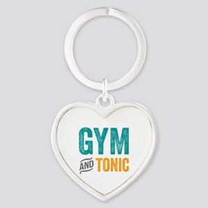 Gym and Tonic Heart Keychain