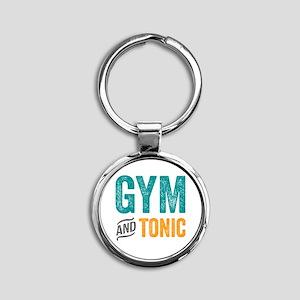 Gym and Tonic Round Keychain