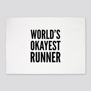 World's Okayest Runner 5'x7'Area Rug