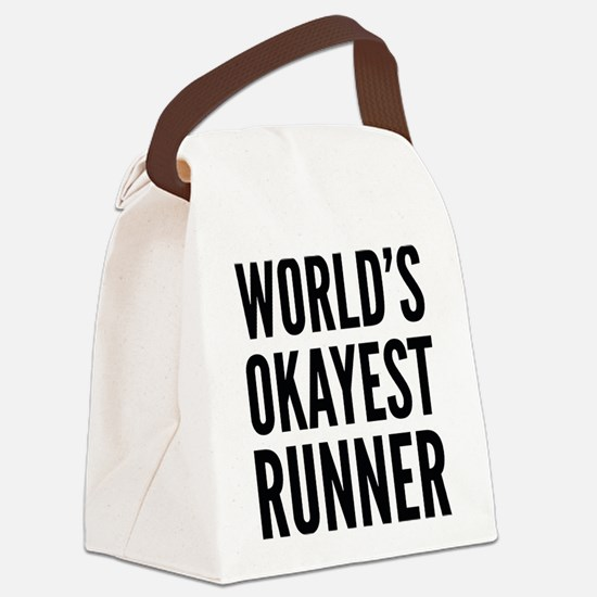 World's Okayest Runner Canvas Lunch Bag