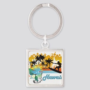 Ornate Tropical Paradise with S Keychains
