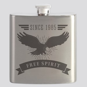 Birthday Born 1985 Free Spirit Flask