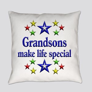 Grandsons are Special Everyday Pillow
