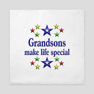 Grandsons are Special Queen Duvet