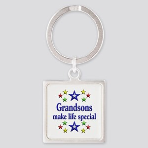 Grandsons are Special Square Keychain