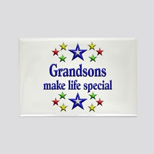 Grandsons are Special Rectangle Magnet
