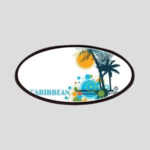 Palm Trees Sun and Circles CARIBBEAN Patch