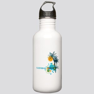 Palm Trees Sun and Cir Stainless Water Bottle 1.0L